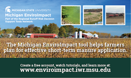 With the MI EnviroImpact tool, farmers are able to plan for effective short-term manure application.